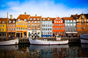 Nyhavn, colorful harbour of Copenhagen (Denmark)
