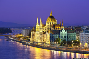 Budapest, Hungarian Parliament Building at Night
