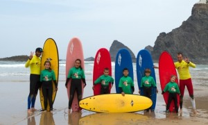 Get a gentle introduction to the waves with Odeceixe Surf School. Photograph: Michael Dragaschnig/Odeceixe Surfschool