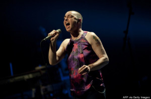 Irish singer-songwriter Sinead O'Connor performs during a concert at the Koninklijk Circus - Cirque Royal, in Brussels on April 12, 2012. (Photo: CHRISTOPHE KETELS/AFP/Getty Images)