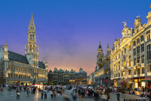 Brussels, Grand Place at Dusk, Belgium